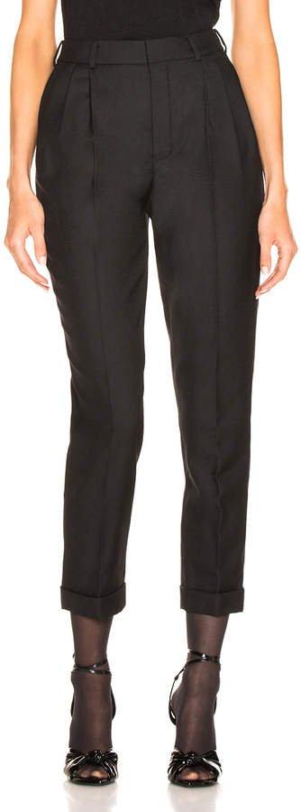 Gabardine High Waisted Pants in Black | FWRD