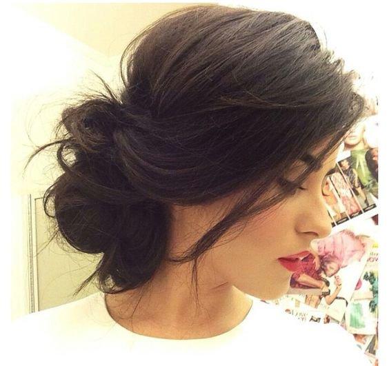 Messy hair do