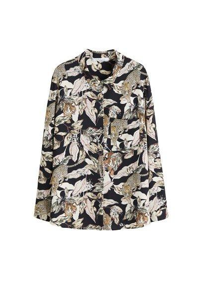 Violeta BY MANGO Tropical print blouse