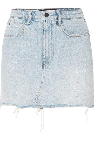 Alexander Wang | Distressed denim mini skirt | NET-A-PORTER.COM
