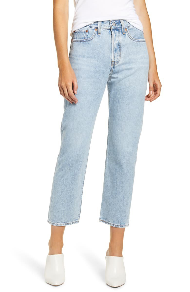 Levi's® Wedgie High Waist Crop Straight Leg Jeans (Mongomery Baked)   Nordstrom