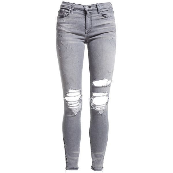 grey ripped jeans