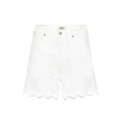 Audrey Scallop denim shorts