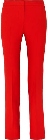 Wool-blend Bootcut Pants - Red
