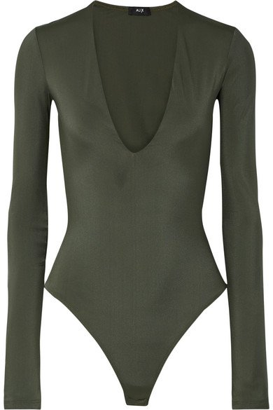 Alix | Irving stretch-jersey thong bodysuit | NET-A-PORTER.COM