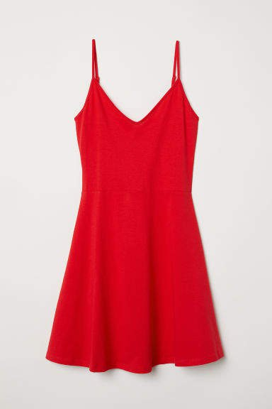 Short Jersey Dress - Red