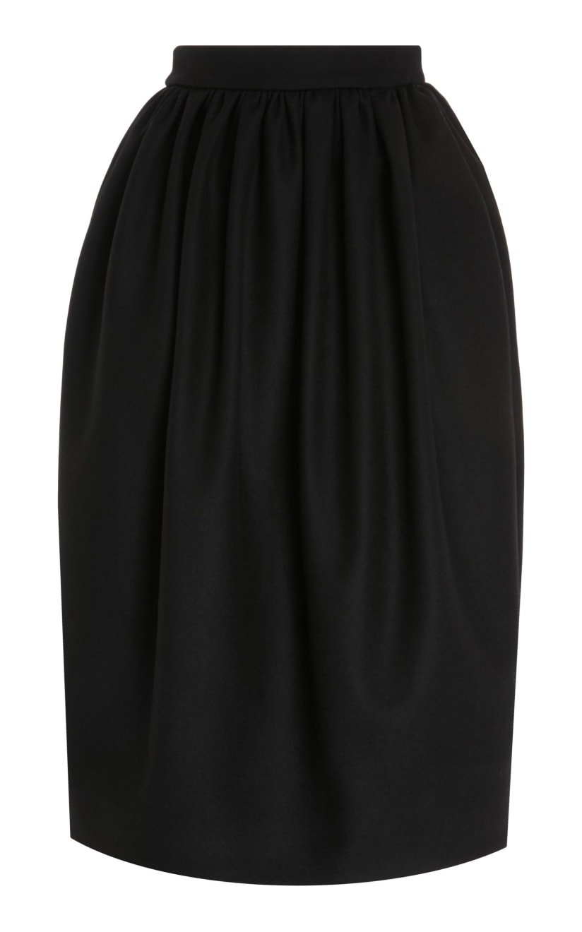 Felted Wool-Blend Midi Tulip Skirt by Rochas | Moda Operandi