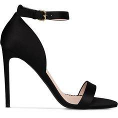 Stella Mccartney Black Silk Satin Sandals