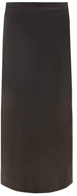 Leather Pencil Skirt - Womens - Black