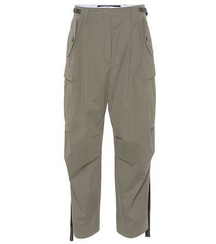 Cotton high-rise pants