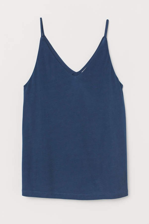 V-neck Camisole Top - Blue