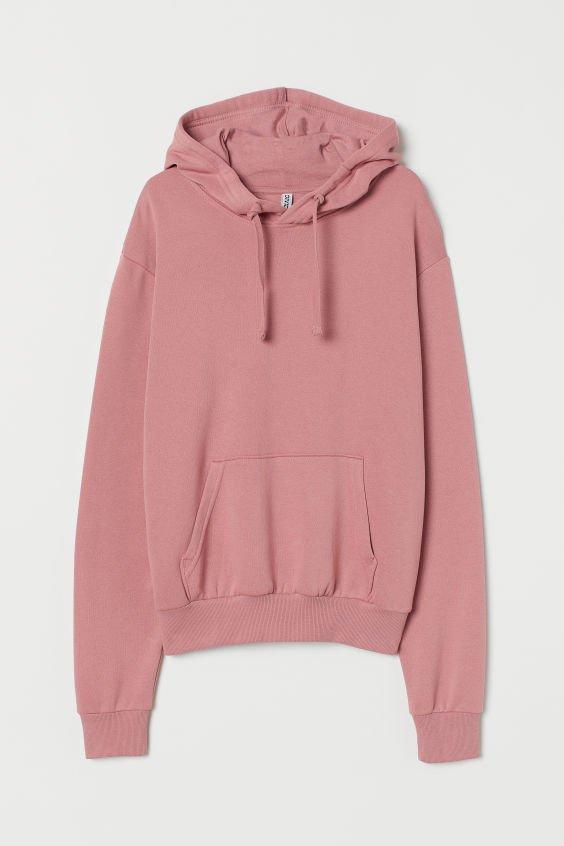 Hooded Sweatshirt with Motif - Pink - Ladies | H&M US