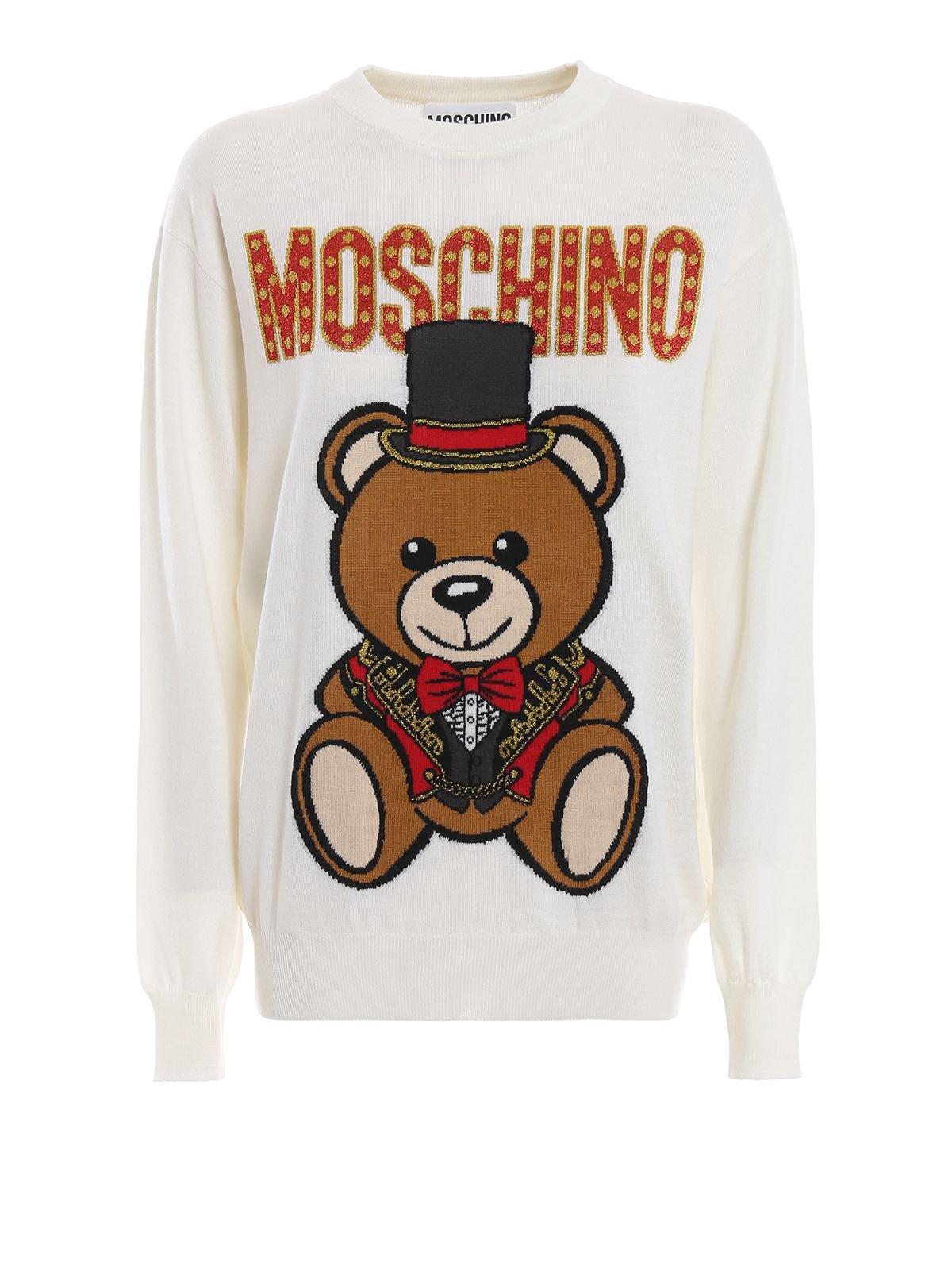 Moschino Teddy Circus Off White Wool Sweater