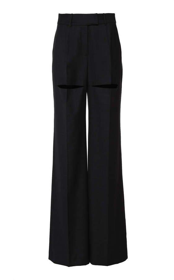 Boyarovskaya Wide Leg Wool Pants Size: XS