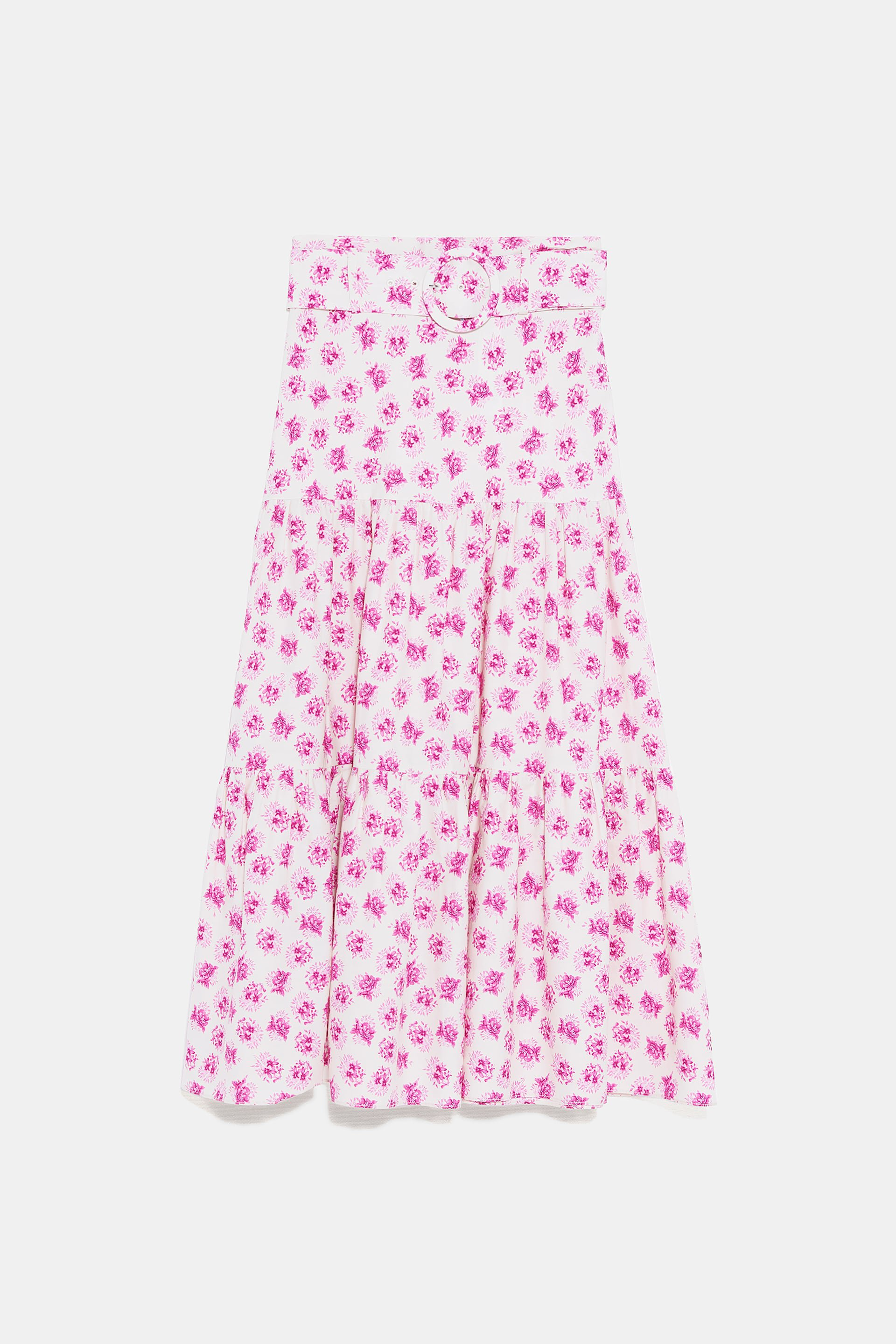 BELTED PRINT SKIRT - View All-SKIRTS-WOMAN | ZARA United States