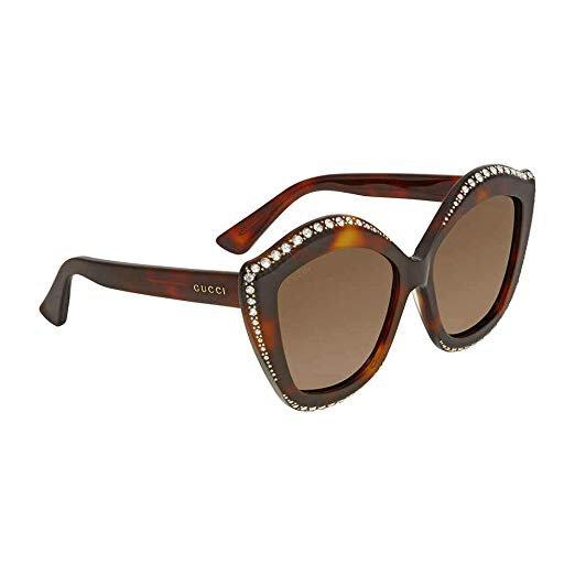 Gucci Womens Women's Gg0118s 53Mm Sunglasses: Clothing