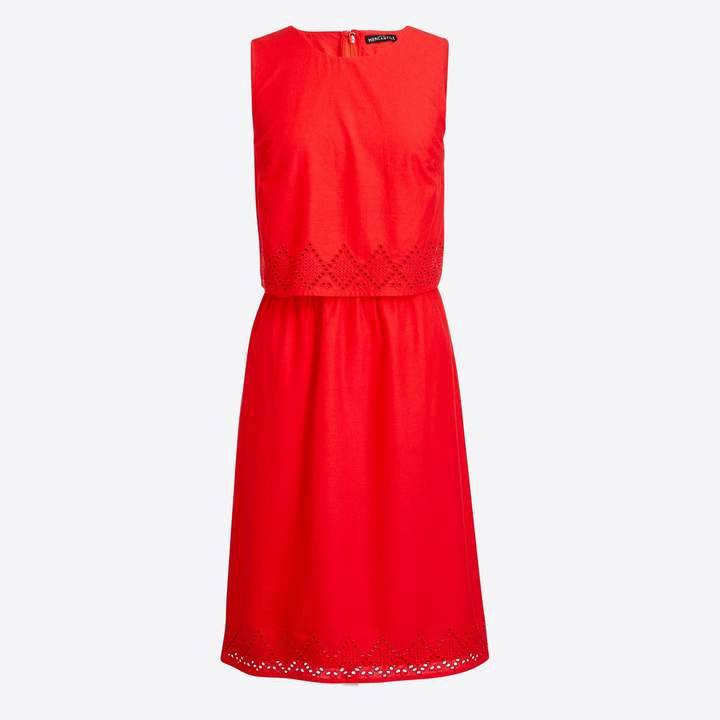 Two-tier eyelet dress
