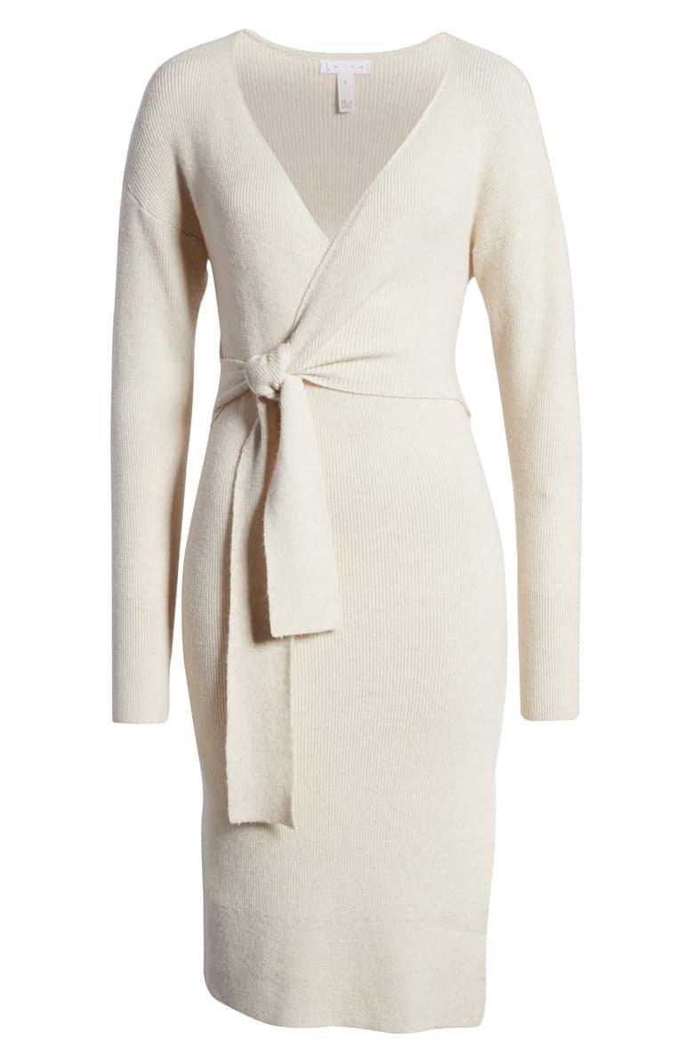 Leith Wrap Dress white