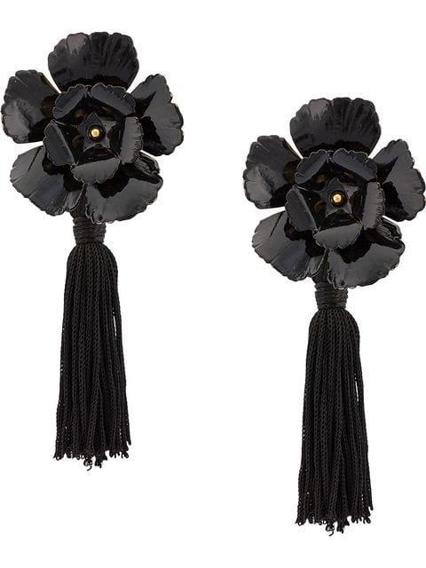 Jennifer Behr floral tassel earrings