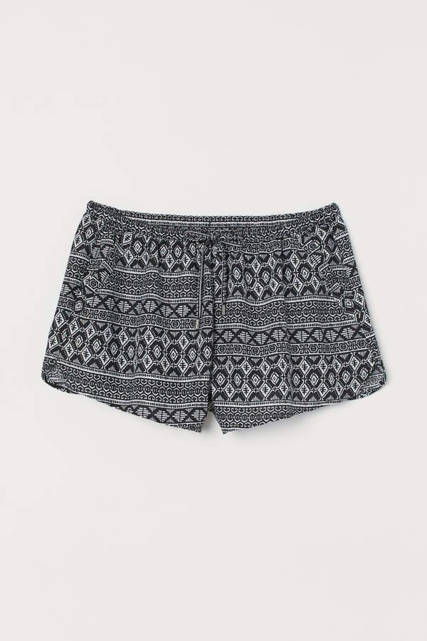 Short Viscose Shorts - Black