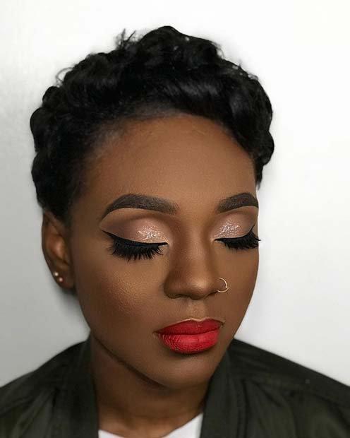 makeup black women red lip - Google Search