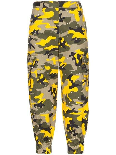 Miu Miu diamante camouflage print cotton blend trousers £1,435 - Shop Online - Fast Global Shipping, Price
