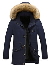 Black Parka Coat Faux Fur Hoodie Jacket Men Lined Detachable Overzied Winter Coat - Milanoo.com