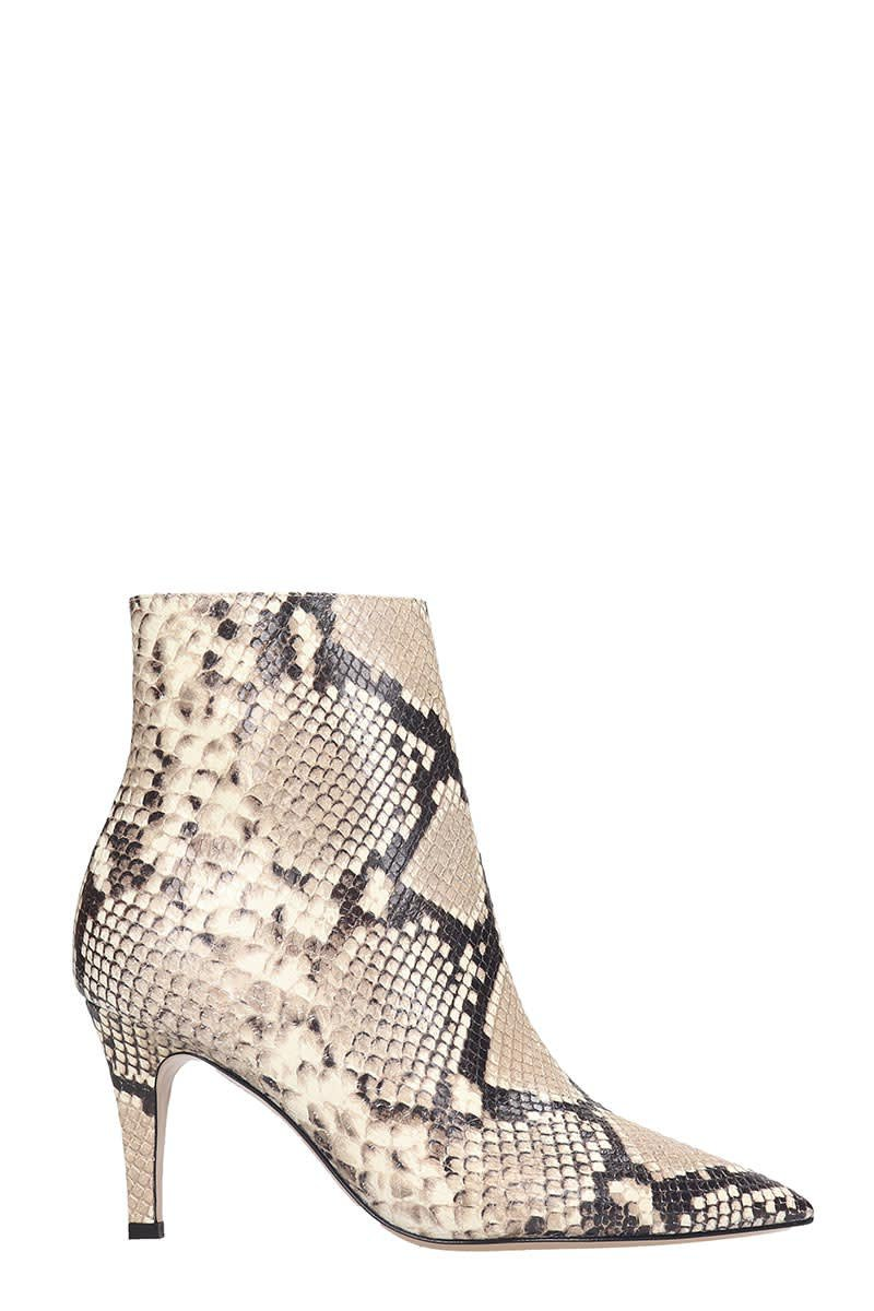 Fabio Rusconi Ankle Boots In Animalier Leather