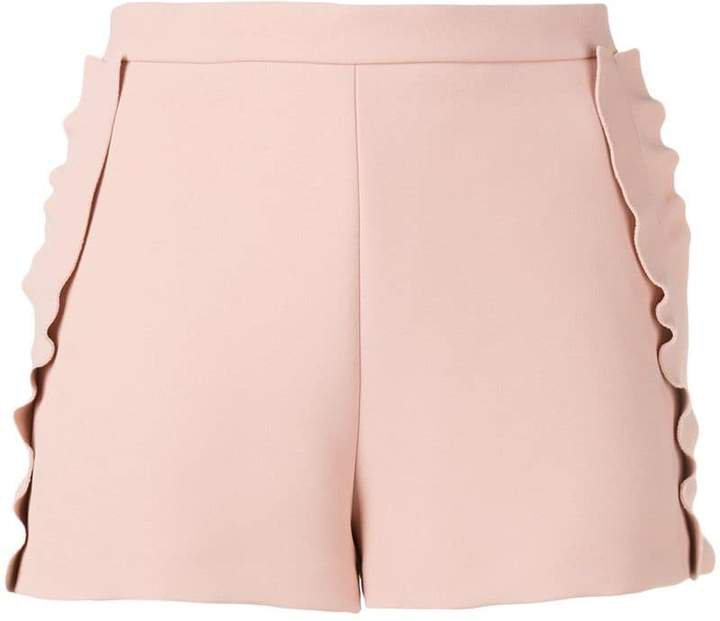 frilled tailored shorts