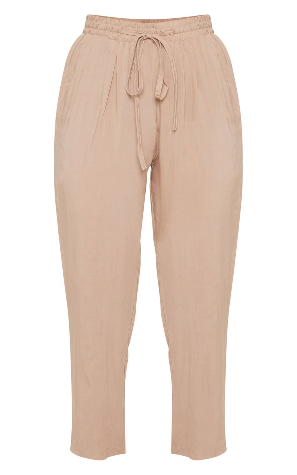 Petite Khaki Casual Trousers | PrettyLittleThing