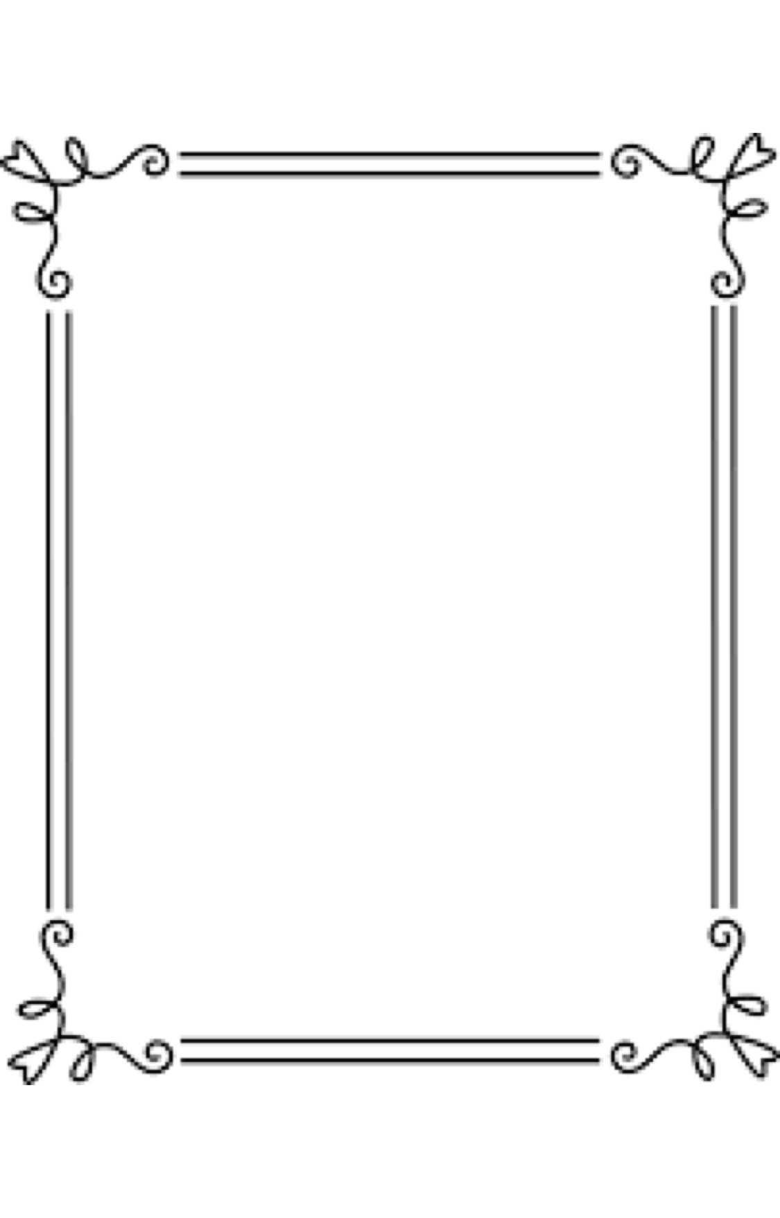 Border Frame Simple Elegant Black 2 Clip Art - Sweet Clip Art