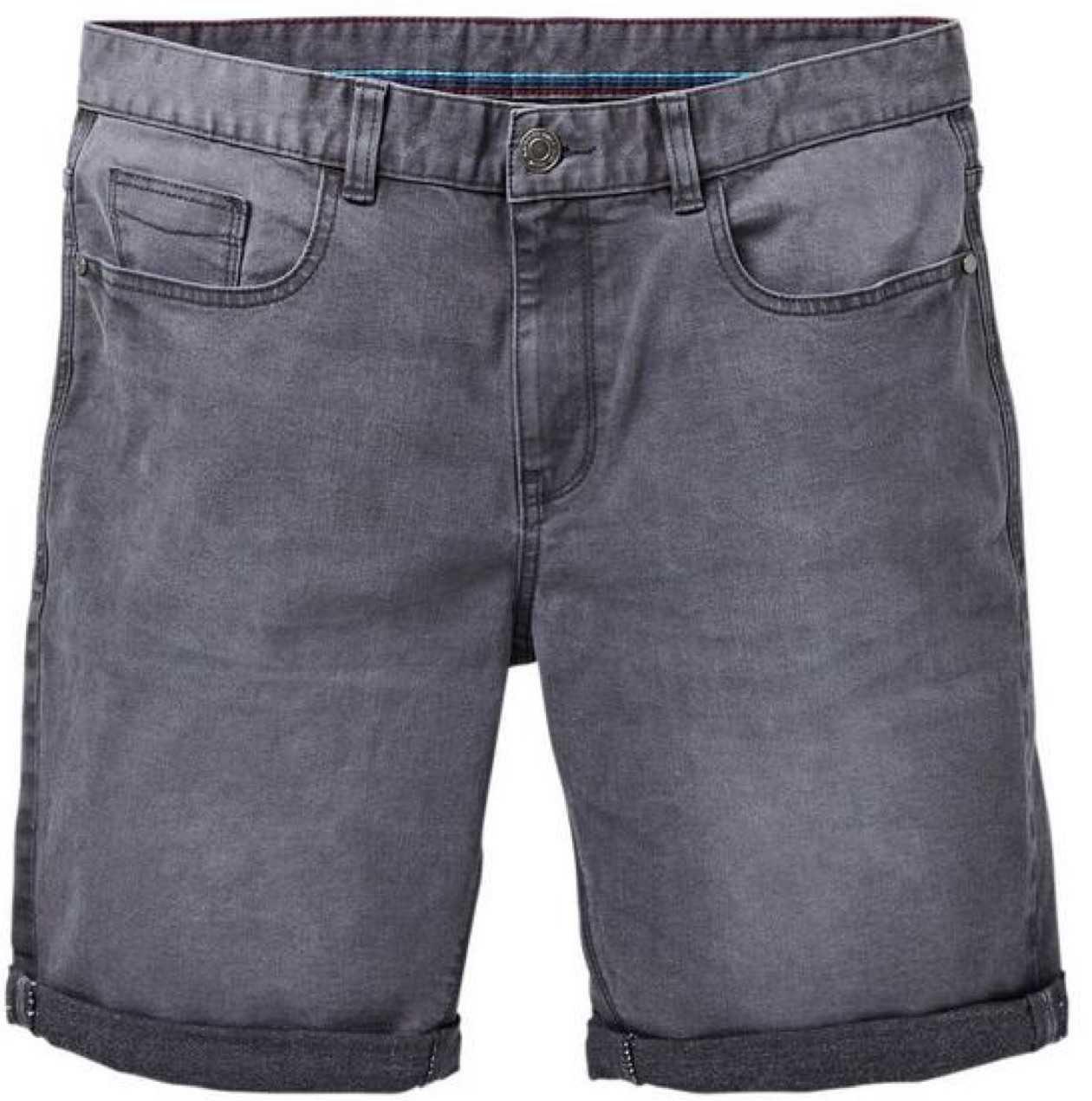 grey jean shorts
