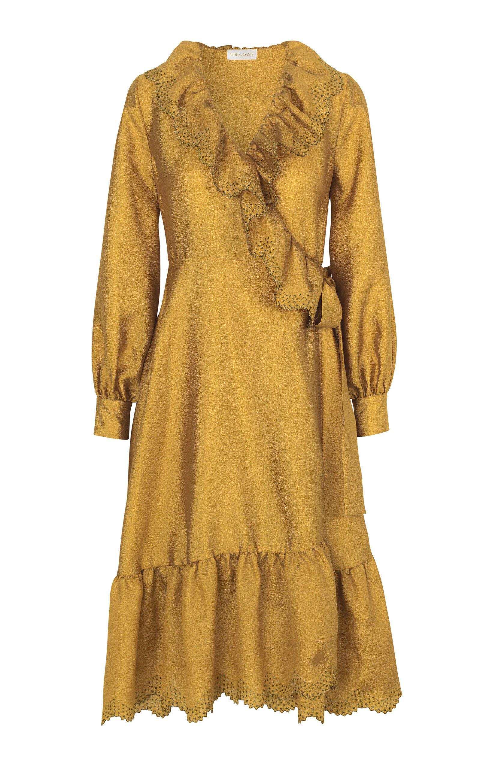 Stine Goya Steffi Ruffle Midi Dress