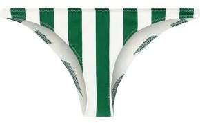 The Rachel Striped Low-rise Bikini Briefs