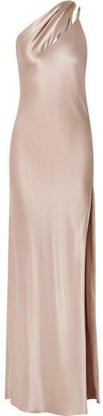 Michelle Mason - One-shoulder Silk-charmeuse Gown