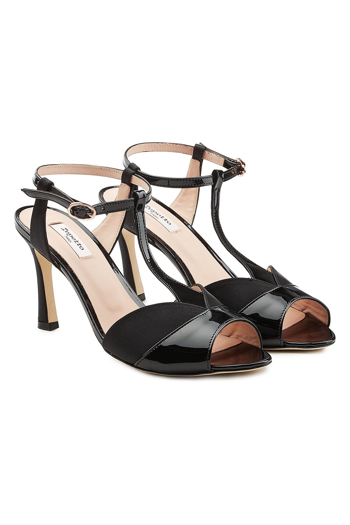 Irma Sandals in Patent Leather and Satin Gr. EU 38