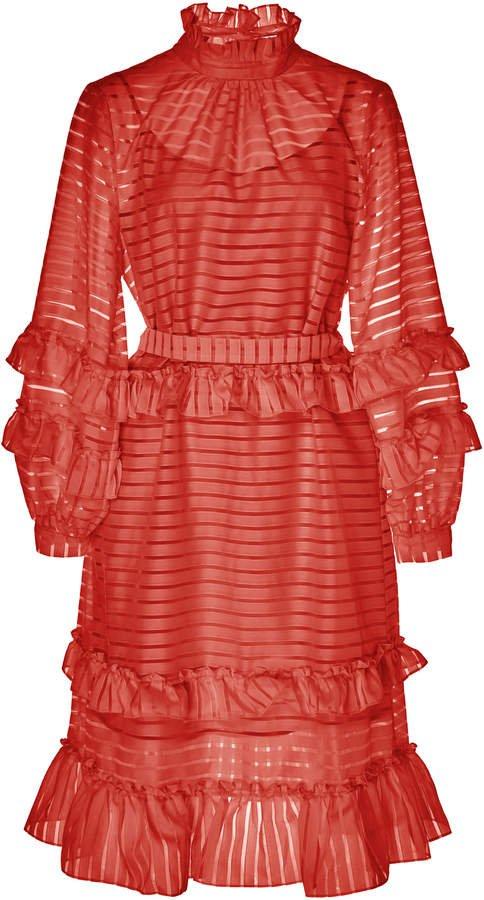 HOFMANN COPENHAGEN Adela Printed Mini Shift Dress