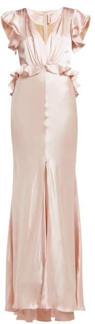 Shirin Silk Charmeuse Maxi Dress - Womens - Light Pink
