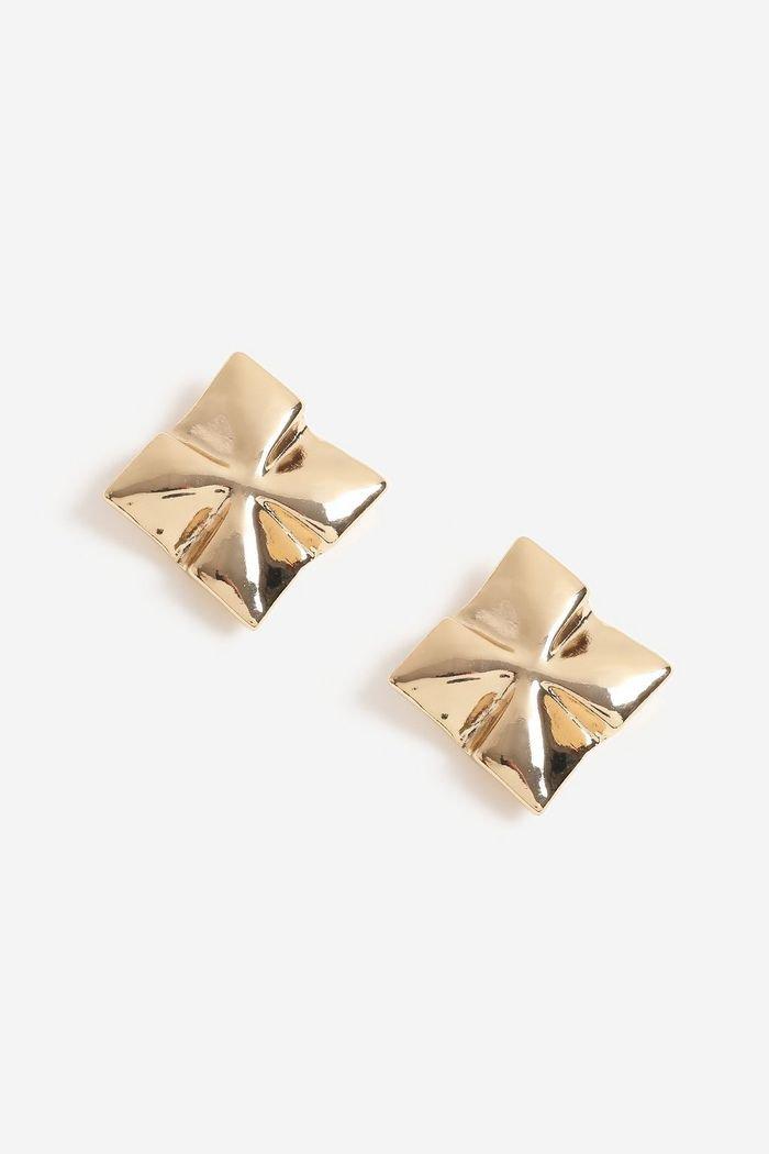 Square Sheet Stud Earrings | Topshop