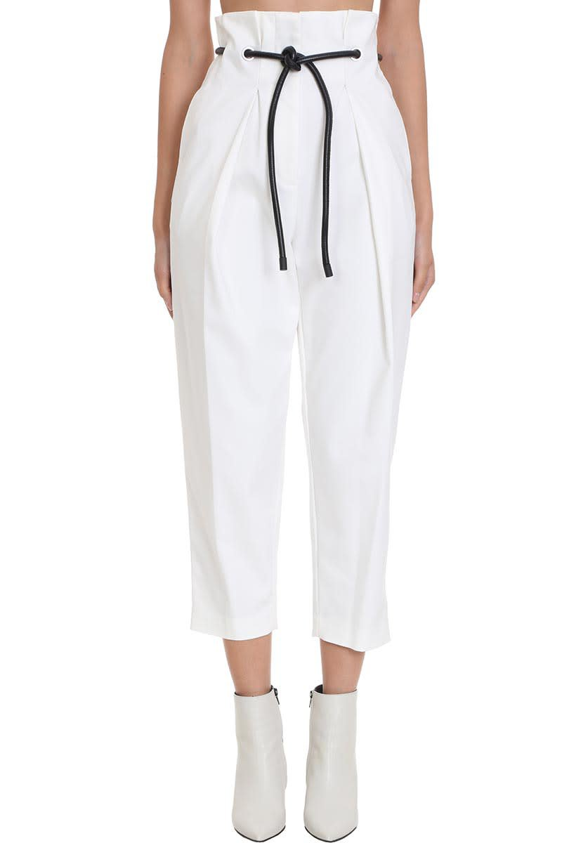 3.1 Phillip Lim Pants In White Cotton