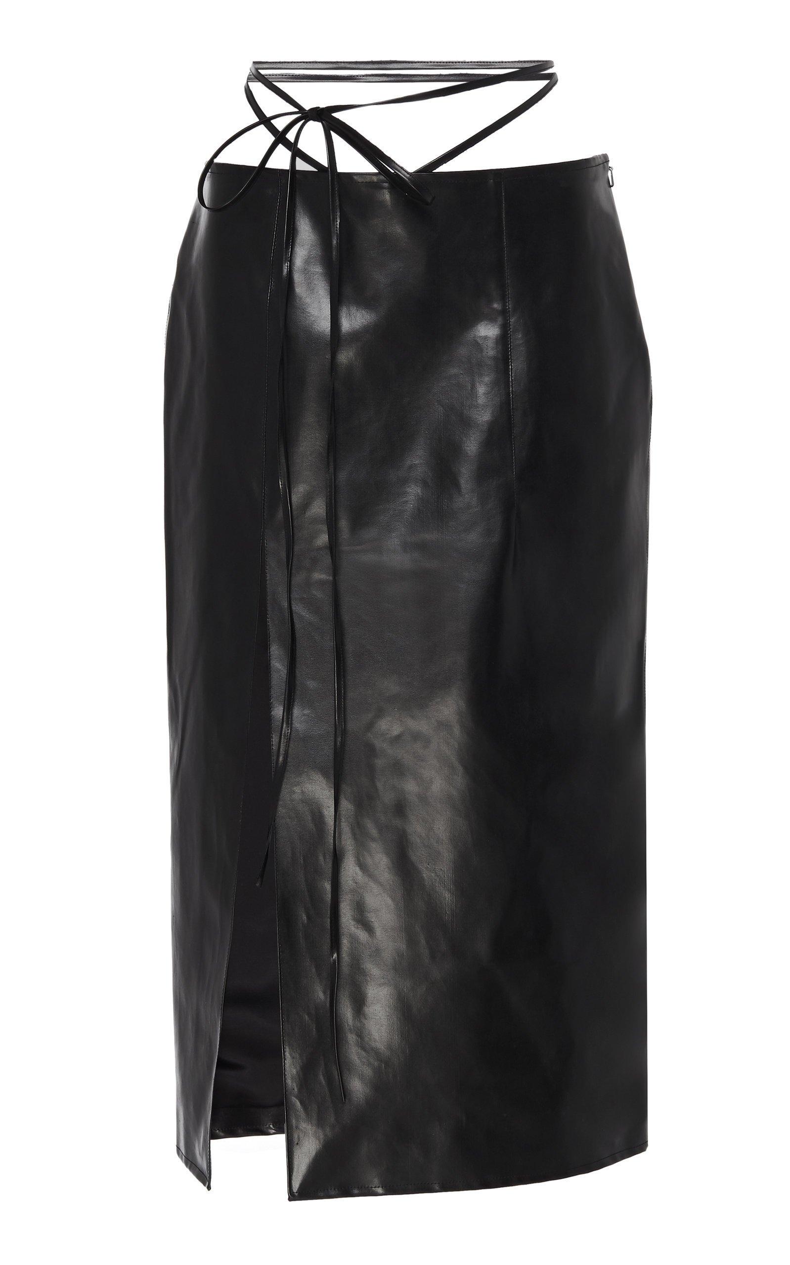Supriya Lele Vinyl Pencil Skirt Size: L
