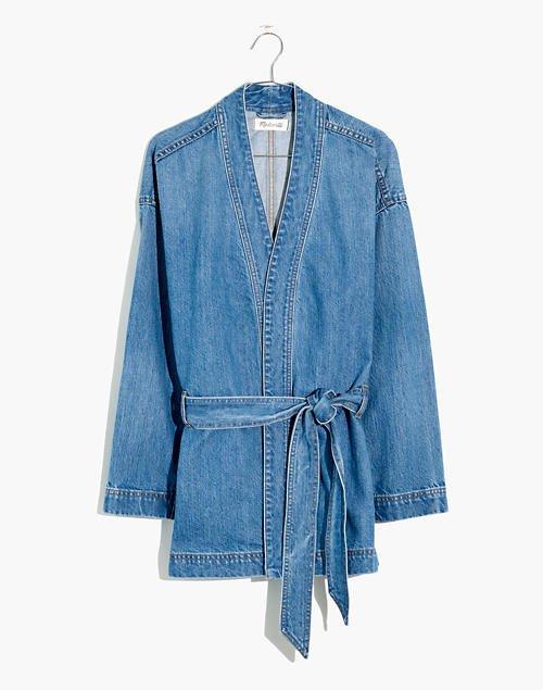 Denim Wrap Jacket blue