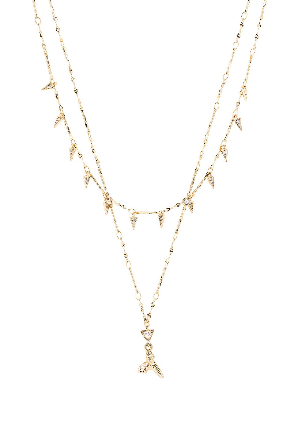 Layered Shark Tooth Necklace