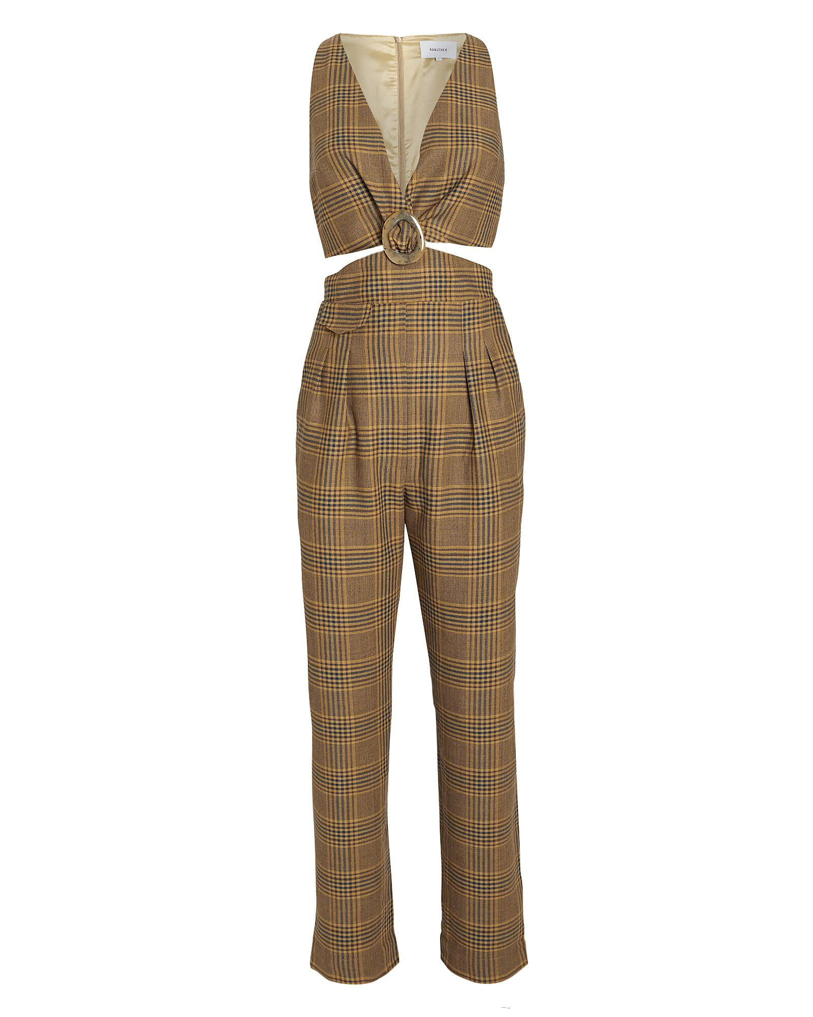 Amor Summer Tweed Cut-Out Jumpsuit
