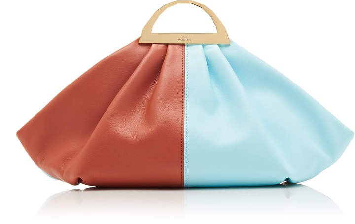 The Volon Gabi Color Block Leather Clutch