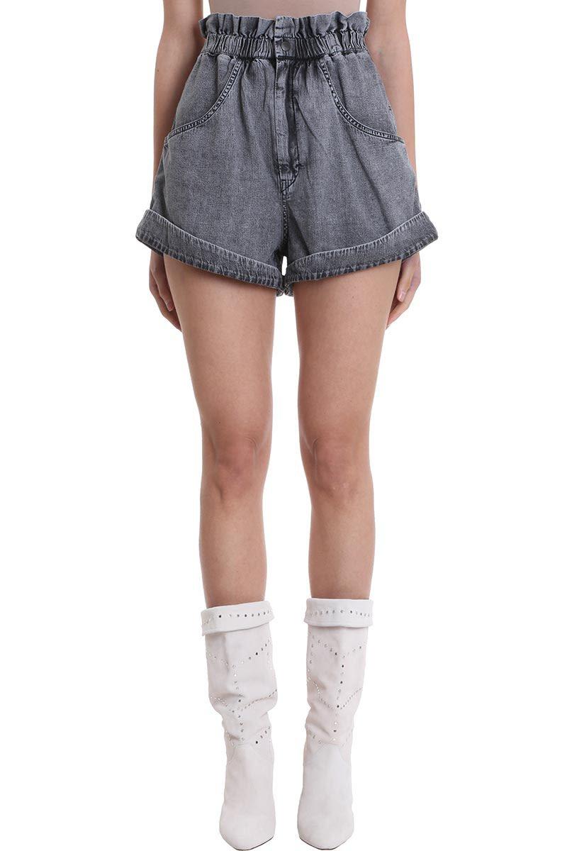 Isabel Marant Lucio Denim Cotton Shorts