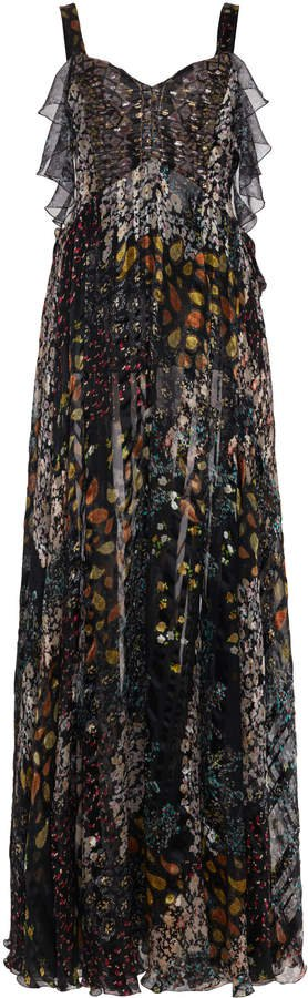 Etro Printed Patchwork Silk Dress Size: 38