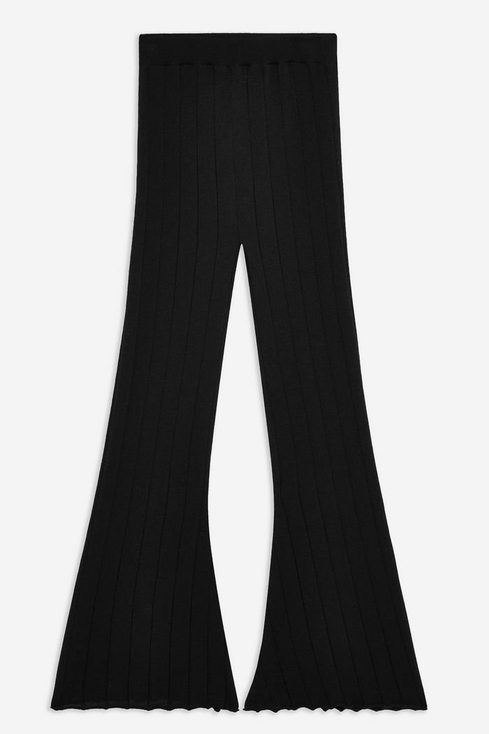 Knitted Ribbed Trousers | Topshop black