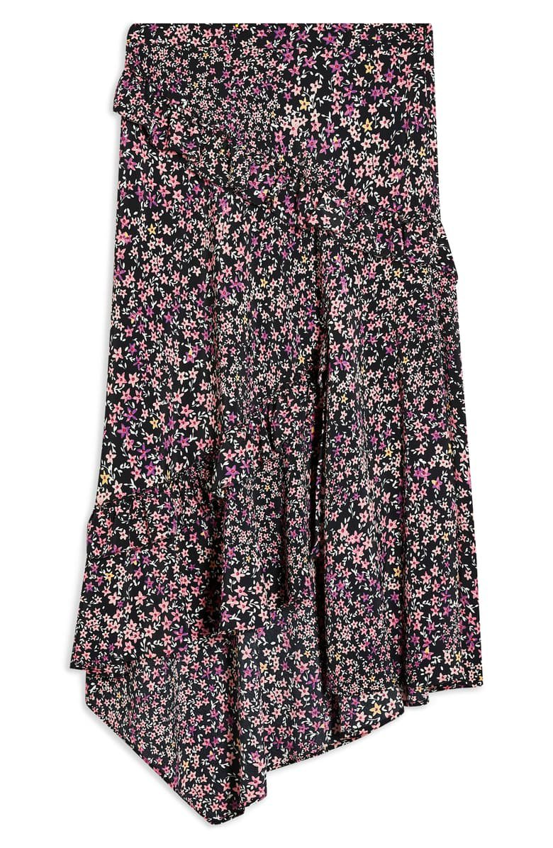 Topshop Ditsy Meadow Ruffle High/Low Skirt   Nordstrom