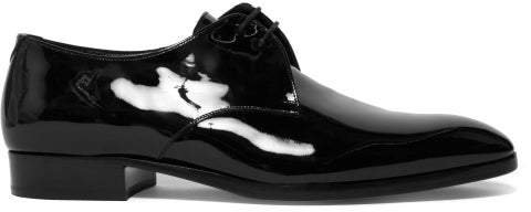 Patent Leather Derby Shoes - Womens - Black